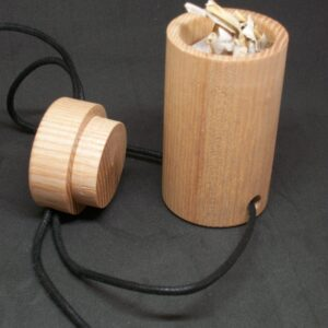Box Pendant Scandinavian Style with lid hand made Ash for trinkets and treasures